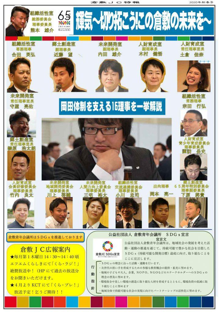 倉敷JC特報:2020年度理事長 岡田体制を支える16理事を一挙解説